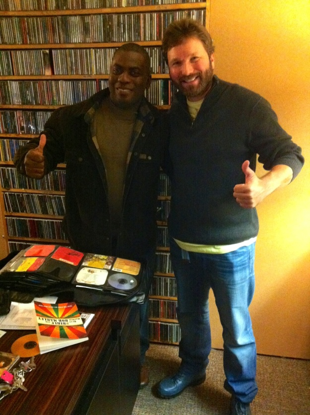 "The author with Icon, host of ""In the Domain"" on WPKN Bridgeport, CT."