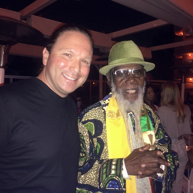 The author with Ras Michael, August 21, 2015.